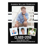 """Class of 2016 Photo Collage Sport Graduation Party 5"""" X 7"""" Invitation Card"""