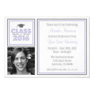 Class Of 2016 Photo Graduation Invitation (Purple)