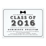 "Class of 2016 | Retro Typography Graduation 5"" X 7"" Invitation Card"