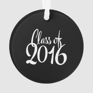 Class of 2016 Retro Typography Graduation Ornament