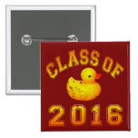Class of 2016 Rubber Duckie 2 Inch Square Button