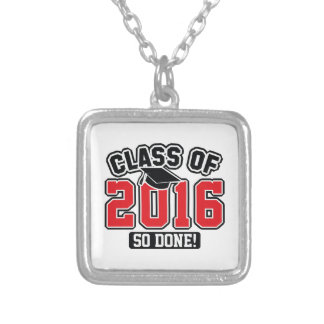 Class Of 2016 Silver Plated Necklace