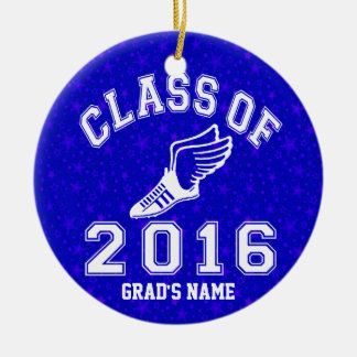 Class of 2016 Track & Field Ceramic Ornament