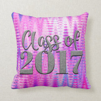 Class of 2017, & Any Name, Cute Custom Pink Pillow