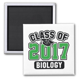 Class Of 2017 Biology Square Magnet