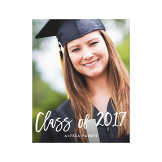 Class of 2017 | Brush Typography and Photo Canvas Print