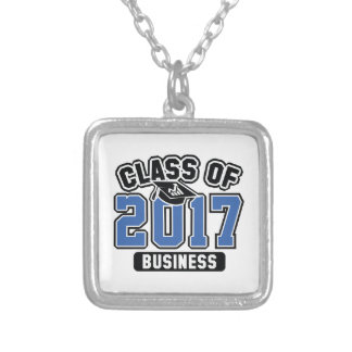 Class Of 2017 Business Silver Plated Necklace