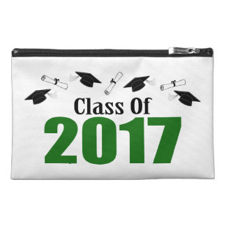Class Of 2017 Caps And Diplomas (Green) Travel Accessories Bag