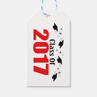 Class Of 2017 Caps And Diplomas (Red) Pack Of Gift Tags
