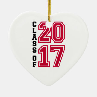 Class of 2017 ceramic ornament
