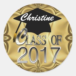 Class Of 2017 Gold Graduation Seals