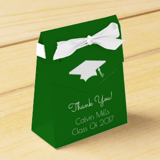 Class Of 2017 Graduation Favor Boxes (Green)