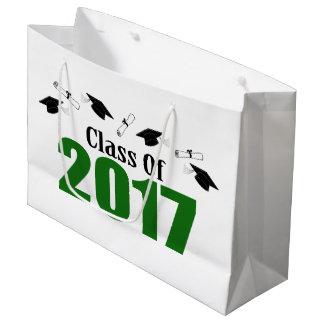 Class Of 2017 Graduation Gift Bag (Green Caps)