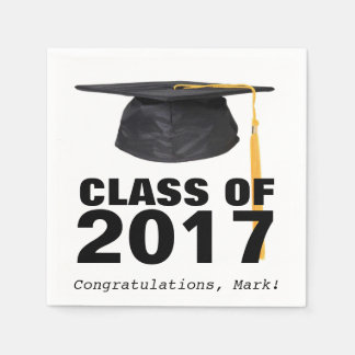 Class of 2017 Graduation Party Napkins Disposable Napkins