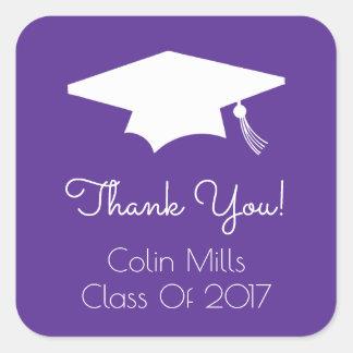 Class Of 2017 Label (Eggplant Graduation Cap)