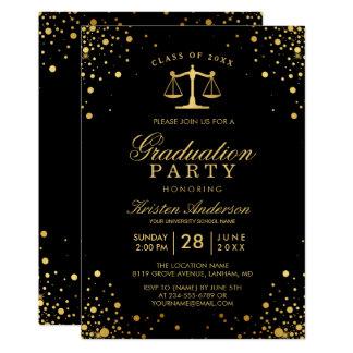 Class of 2017 Law School Graduate Graduation Party Card