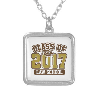 Class Of 2017 Law Silver Plated Necklace