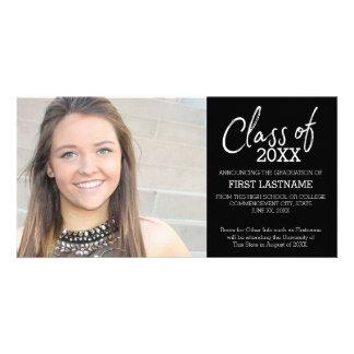 Class of 2017 Modern Graduation Photo Announcement Card