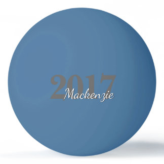 Class of 2017 Modern Stylish Trendy Grad Keepsake Ping Pong Ball