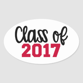 Class of 2017 oval sticker