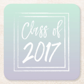 Class of 2017 paper coasters