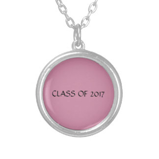 Class of 2017 Pink and Silver Necklace