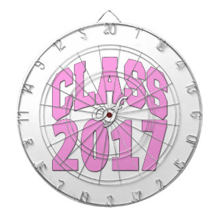 Class of 2017 pink dartboard