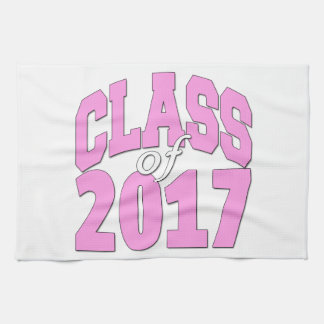 Class of 2017 pink kitchen towel
