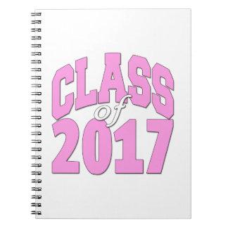 Class of 2017 pink notebook