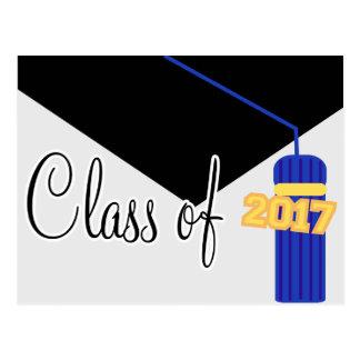 Class Of 2017 Postcard Invite (Blue Cap / Tassel)