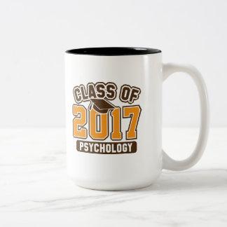 Class Of 2017 Psychology Two-Tone Coffee Mug