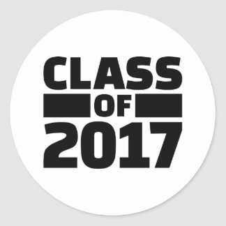 Class of 2017 round sticker