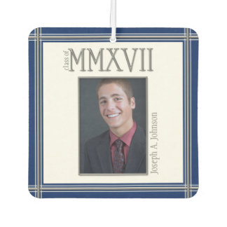 Class of 2017 Silver Roman Numerals Graduate Air Freshener
