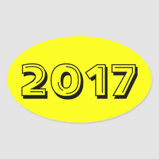 Class of 2017 Yellow Oval Sticker by Janz