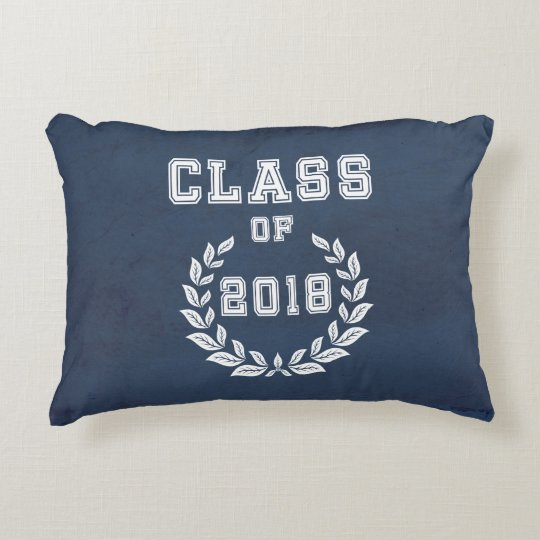 Class of 2018 accent pillow