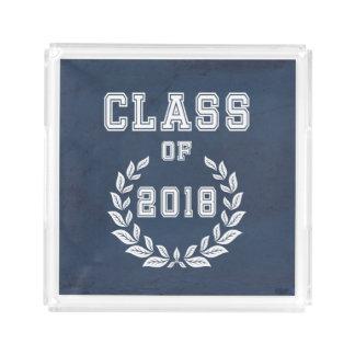 Class of 2018 acrylic tray