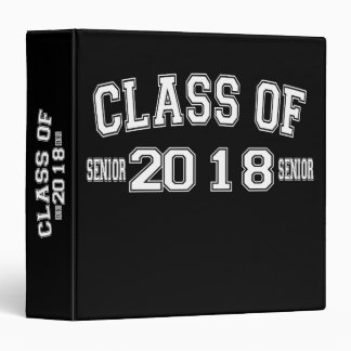 Class Of 2018 Binder Notebook