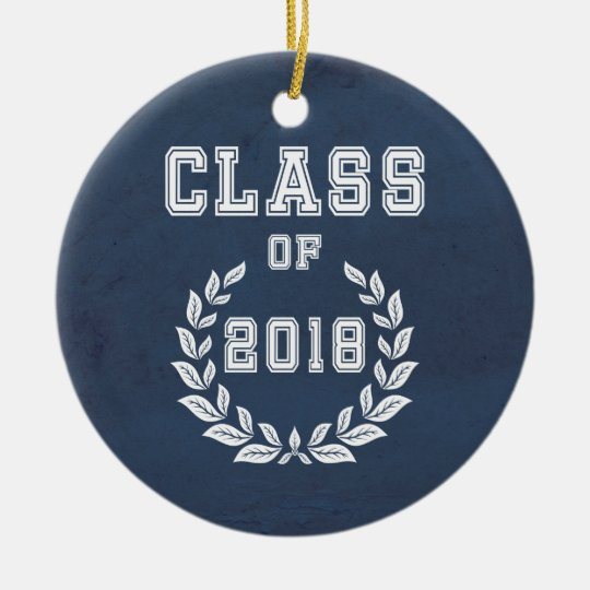 Class of 2018 ceramic ornament