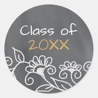 Class of 2018-Chalkboard Graduation Classic Round Sticker