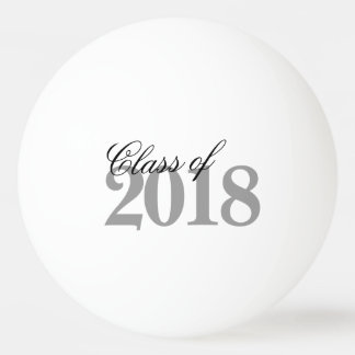 Class of 2018 Graduation   Black White Grad Year Ping Pong Ball