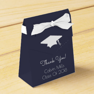 Class Of 2018 Graduation Favor Boxes (Midnight)