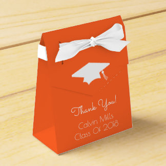 Class Of 2018 Graduation Favor Boxes (Orange)
