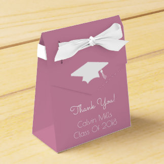 Class Of 2018 Graduation Favor Boxes (Rose Pink)
