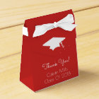 Class Of 2018 Graduation Favour Boxes (Red)