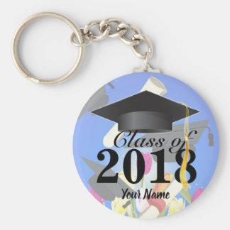 Class of 2018 Graduation Key-Chain blue Keychain