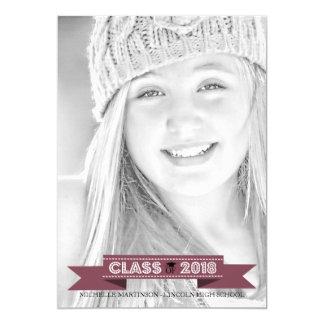 Class Of 2018 Graduation Photo Announcement Maroon
