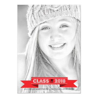 Class Of 2018 Graduation Photo Announcements (Red)