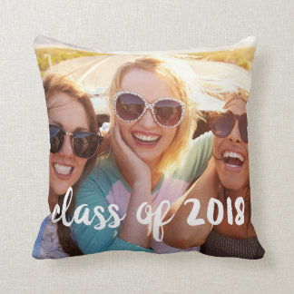 Class of 2018 Graduation Photo Throw Pillow