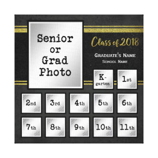 Class of 2018 K-12 Photo Commemorative Keepsake Canvas Print