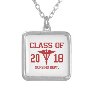 Class Of 2018 Nursing Dept Silver Plated Necklace